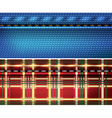 Blue Denim and Red Checkered Background vector image