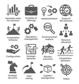 Business management icons Pack 15 vector image