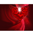 beautiful heart background vector image