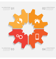 sliced gear infographic vector image