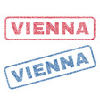 vienna textile stamps vector image