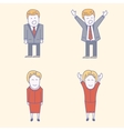 USA election candidates characters vector image