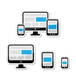 Responsive design for web - computer screen vector image