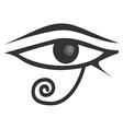 Egyptian Eye Of Horus Eye of Ra vector image