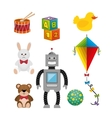 children toys set icons vector image