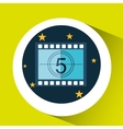 concept cinema theater strip counting graphic vector image