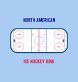 ice hockey rink isolated on the white vector image