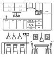 kitchen modern furniture vector image