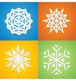 Paper Snowflakes on Colorful Background vector image vector image
