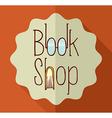 Retro book shop elements vector image vector image