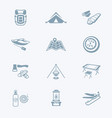 camping icons - tech series vector image vector image