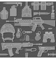 seamless military pattern 03 vector image