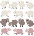 14 stylized sheep isolated on white background vector image
