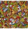 Cartoon art and craft seamless pattern vector image