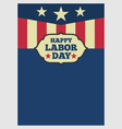 USA Labor day vertical background vector image