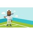 Baseball player on field vector image