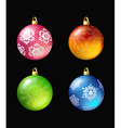 christmas colored balls vector image vector image
