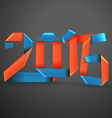 Happy New 2016 year vector image vector image