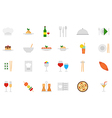 Restaurant food icons set vector image