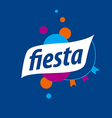abstract logo for the fiesta on a blue background vector image