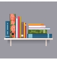 Colorful books on a shelf vector image