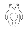 cute line icon bear cartoon vector image