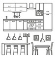 kitchen modern furniture vector image