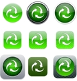 Recycle green app icons vector image