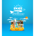 Travel bag Vacation design template Enjoy vector image