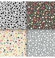 Vintage polka dot seamless patterns set vector image