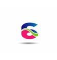 Logo number 6 design template vector image