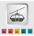 Funicular railway vector image vector image