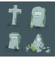 Halloween tombs set vector image