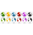 Bright earth globes design vector image