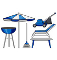 Gardening tool and BBQ stove vector image vector image