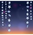 Stars night vector image