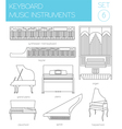 Musical instruments graphic template Keyboard vector image