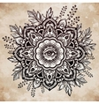 Hand drawn ornate flower with eye inside vector image