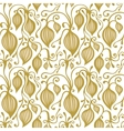 Gold floral seamless lace pattern vector image