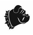 Bulldog dog icon simple style vector image