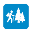 forest tourist icon vector image