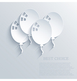 ballons background eps10 vector image