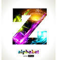 Design Abstract Letter Z vector image