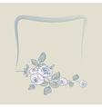 frame flower rose vector image