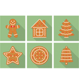Gingerbread Christmas Cookies vector image
