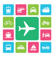 icon set traffic vector image