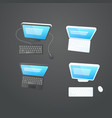 modern computers on the table collection vector image