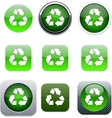 recycling green app icons vector image