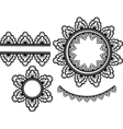set of lace elements vector image