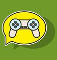 sticker icon of social media e-mail game joystick vector image